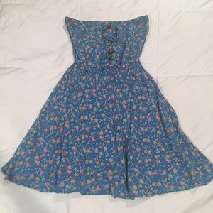 Material Girl floral strapless dress